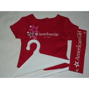 AG American Girl Place Miami Silver Foil Star Red